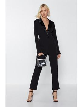 Woman Of The Hour Blazer Jumpsuit by Nasty Gal