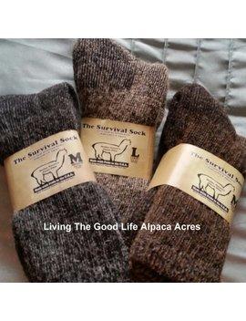 Alpaca Survival Sock by Etsy