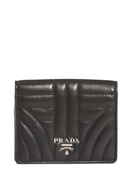 Quilted Leather French Wallet by Prada