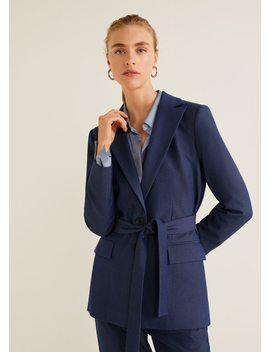 Bow Suit Blazer by Mango