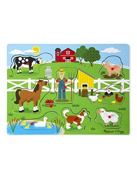 Melissa & Doug Old Macdonald's Farm Sound Puzzle (8 Piece) by Melissa & Doug