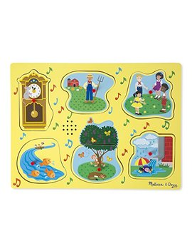 Melissa & Doug Nursery Rhymes 1 Sound Puzzle (6 Piece) by Melissa & Doug