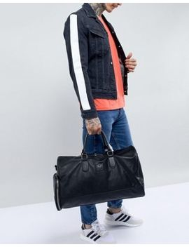 Good For Nothing Carryall In Black Faux Leather by Good For Nothing