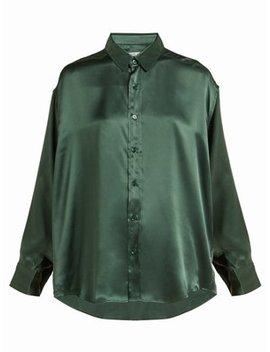 Nicola Long Sleeved Silk Shirt by Katharine Hamnett London