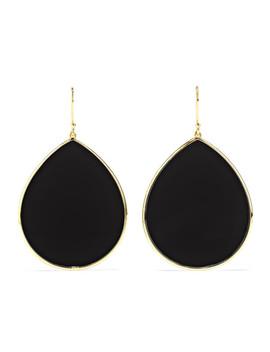 Polished Rock Candy 18 Karat Gold Onyx Earrings by Ippolita