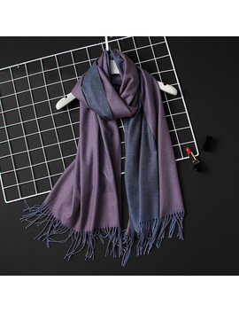 2018 Winter Women Scarf Fashion Solid Soft Cashmere Scarves For Ladies Pashmina Shawls And Wraps Bandana Female Foulard Tassel by Ruicestai