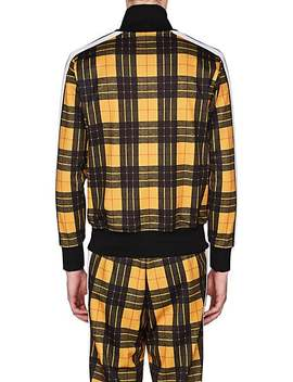 Plaid Jersey Track Jacket by Palm Angels
