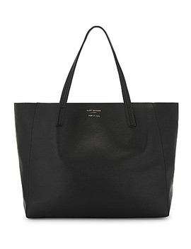 violet-horizontal-leather-tote by kurt-geiger-london