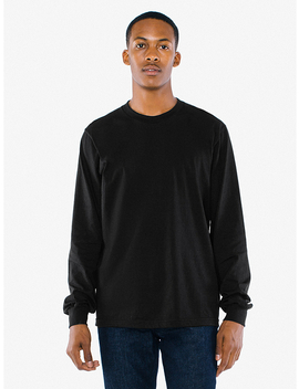 Organic Fine Jersey Crewneck Long Sleeve T Shirt by American Apparel