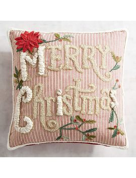 Merry Christmas Striped Pillow by Pier1 Imports
