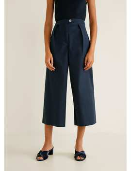 Flared Cotton Trousers by Mango