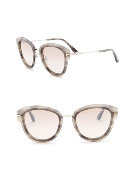 Mia 52mm Rounded Sunglasses by Tom Ford