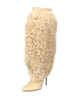 Curly Shearling Fur Knee Boot by Tom Ford