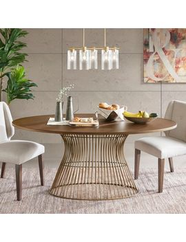 Ink Ivy Mercer Bronze Oval Dining Table by Ink And Ivy