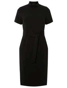 Black Button Pencil Dress by Dorothy Perkins