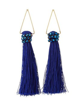 Triangle Fringe Drop Earrings by Charlotte Russe