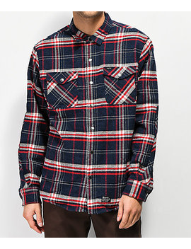 Matix Pv Thermal Navy & Red Flannel Shirt by Matix