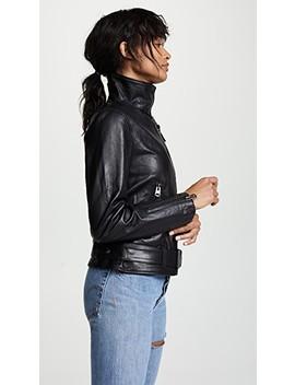 Emily Leather Moto Jacket by Mackage