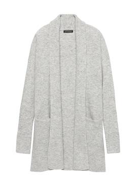 Petite Aire Long Cardigan Sweater by Banana Repbulic