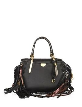 Dreamer Whipstitch And Charm Leather Bag by Coach