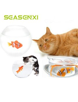 Funny Cat Simulation Fish Toy Battery Powered Fish Water Robot Cat Toys Water Activated Robo Fish Keep Your Cats Entertained by Seasenxi
