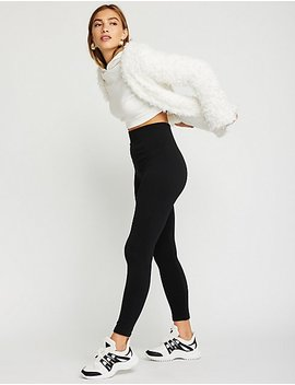 High Waist Faux Fur Lined Leggings by Charlotte Russe