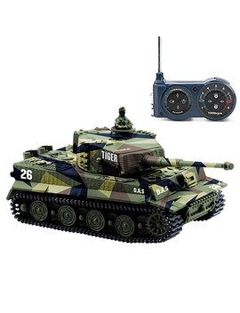 Cheerwing 1:72 German Tiger I Panzer Tank Remote Control Mini Rc Tank With Sound, Rotating Turret And Recoil Action When Cannon Artillery Shoots by Cheerwing