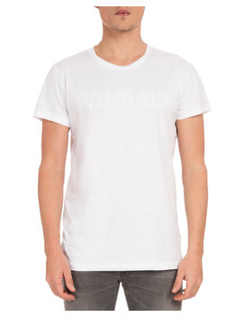 Men's Tonal Logo T Shirt by Balmain
