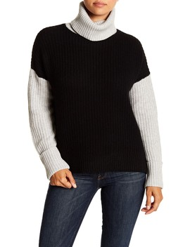 Dree Chunky Knit Turtleneck Sweater by 360 Cashmere