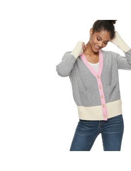 Women's Popsugar Colorblock Cardigan Sweater by Kohl's