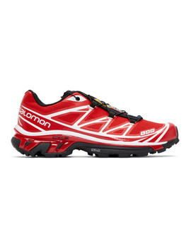 Red S/Lab Xt 6 Softground Adv Sneakers by Salomon