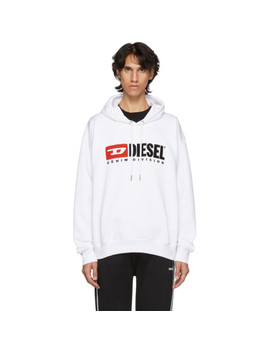 White S Division Logo Hoodie by Diesel