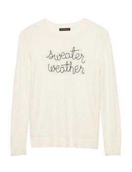 Italian Superloft Embroidered Sweater by Banana Repbulic