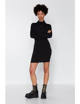Take A Rib On This Turtleneck Dress by Nasty Gal