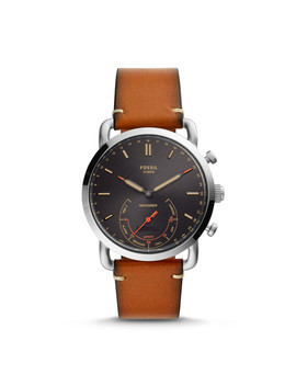 Hybrid Smartwatch   Fossil X Movember Brown Leather by Fossil