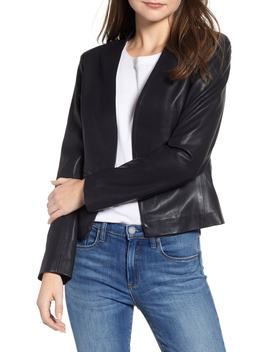 Faux Leather Blazer by Blanknyc