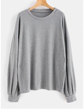 Marled Oversized Sweatshirt   Gray M by Zaful