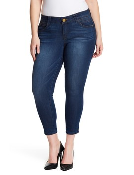 Stretch Ankle Skimmer Jeans (Plus Size) by Democracy