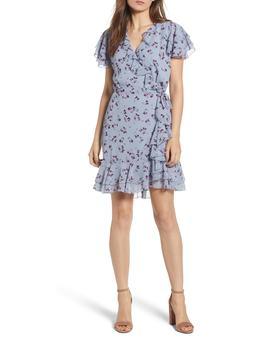 Madlyn Mini Ruffle Wrap Dress by Wayf