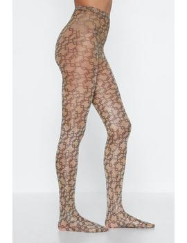 Chain Mail Print Tights by Nasty Gal