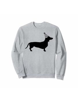 Dachshund Birthday Wiener Dog Party Sweatshirt by Dabbing Dachshund Tee Shirt Supply Co.