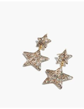 Glitter Star Statement Earrings by Madewell