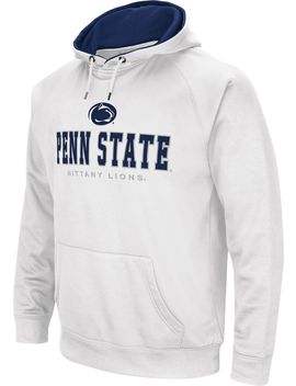 Colosseum Men's Penn State Nittany Lions Fleece Pullover White Hoodie by Colosseum
