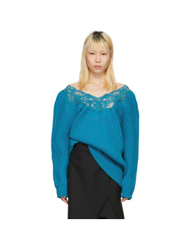 Blue Lingerie Sweater by Balenciaga