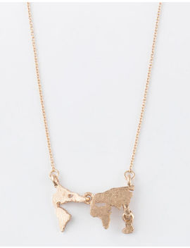 Full Tilt Map Cut Out Necklace by Full Tilt