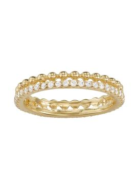 14k Gold Over Silver Cubic Zirconia Milgrain Band by Kohl's