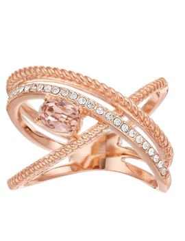 Brilliance 18k Rose Gold Plated Double Wrap Ring With Swarovski Crystals by Kohl's