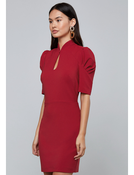 Puff Sleeve Keyhole Dress by Bebe