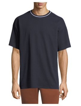 Men's Roedon Contrast Trim T Shirt by Burberry