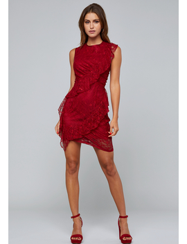 Spiral Ruffle Dress by Bebe